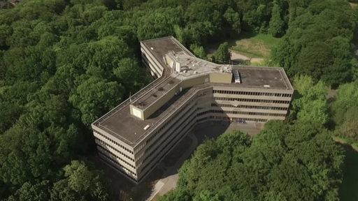 Das BAMF Gebäude aus der Vogelsperspektive