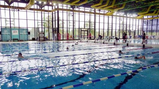 Blick ins Sportbad an der Universität in Bremen.