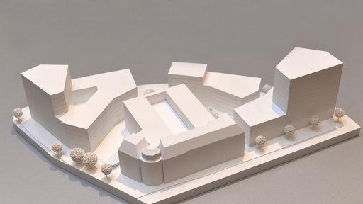 Modelle des Sparkassen-Areals am Brill
