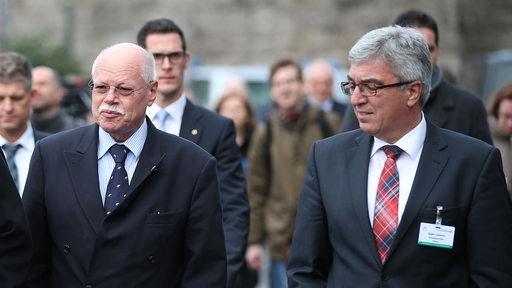 Bremens Innensenator Mäurer und der Innenminister von Rheinland-Pfalz Roger Lewentz