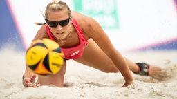 Beachvolleyball-Spielerin Kim Behrens.
