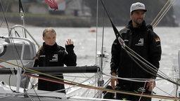 Greta Thunberg und Boris Herrmann segeln los.