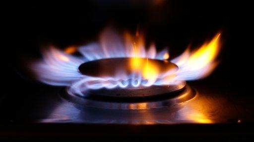 Gasflamme eines Ofens
