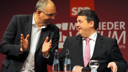 Andreas Bovenschulte und Sigmar Gabriel