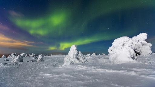 Polarlicht über Finnland.