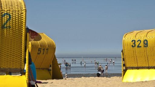 Strandkörbe in Cuxhaven-Duhnen