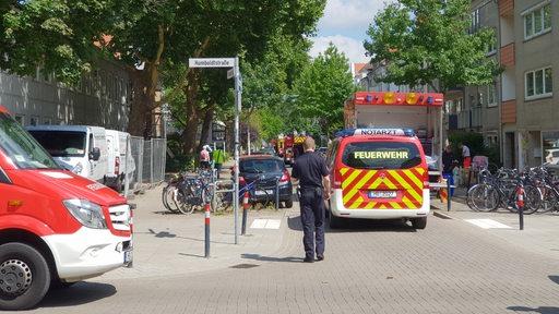 Polizeieinsatz in der Hornerstraße
