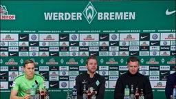 Werder-PK mit Kohfeldt, Baumann, Augustinsson