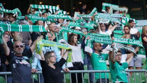 Werder Bremen begeht das erste Heimspiel der Saison mit 8.500 Zuschauern im Weserstadion.