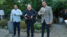 Ailton, Jürgen Born und Claudio Pizarro stehen nebeneinander.