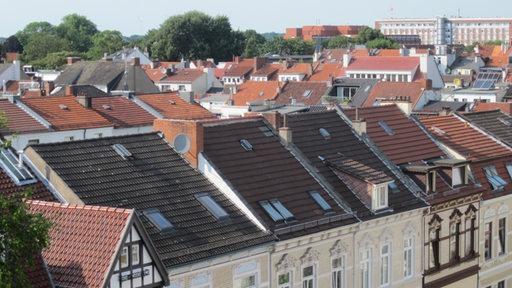 Reihenhäuser von oben in Bremen