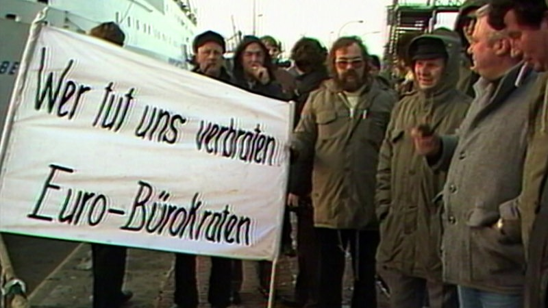 Protest in Bremerhaven.