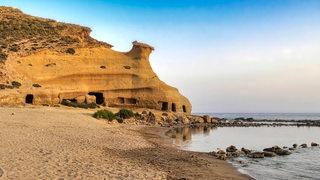 Zu sehen ist eine Bucht in Murcia.