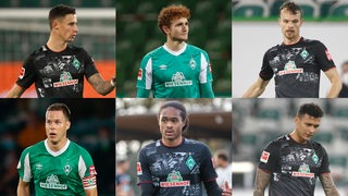Marco Friedl, Josh Sargent, Christian Groß, Niklas Moisander, Tahith Chong und Davie Selke (Montage)