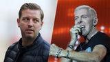 Bildmontage: Werder-Trainer Florian Kohfeldt  und H.B. Baxxter von der Band Scooter.