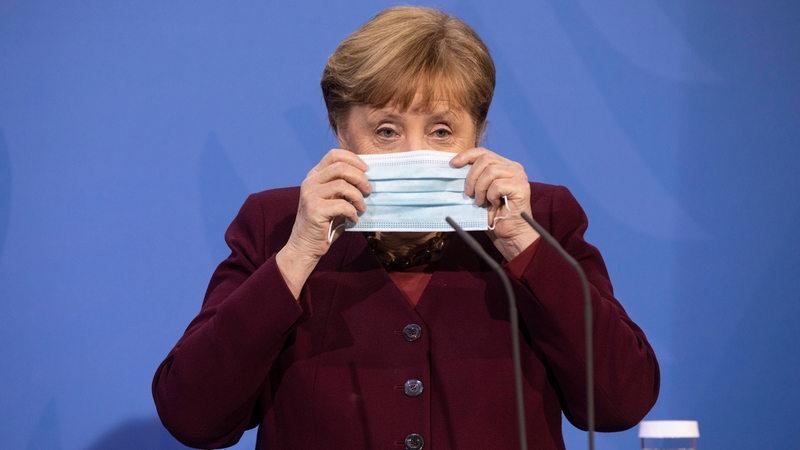 Pressekonferenz mit Bundeskanzlerin Angela Merkel im Anschluss an die Besprechung mit den Regierungschefinnen und Regierungschefs der Länder zur Impfstrategie