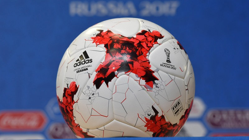 "Fußball mit Confed-Cup-Logo ""Russia 2017"""