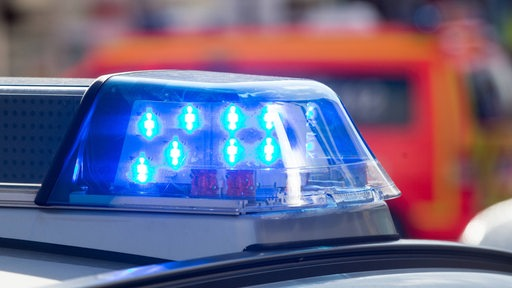 Das Blaulicht eines Polizeiwagens.