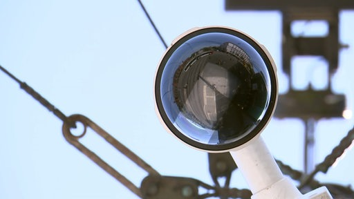 Videokamera am Bremer Hauptbahnhof