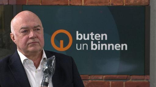 Der bremer Unternehmer Kurt Zech zu Gast im Studio von buten un binnen.