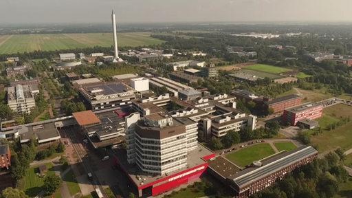 Ein Luftbild des Uni Bremen Campus'.
