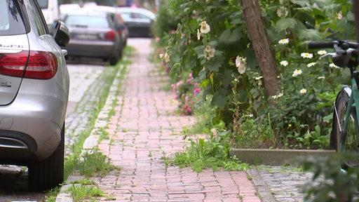 Ein maroder Fahrradweg in Bremen