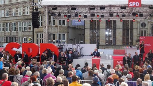 Martin Schulz Bundestagswahlkampf Auftritt Bremen