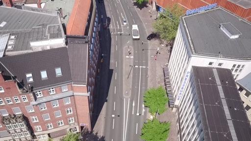 Bremer Martinistraße von oben.
