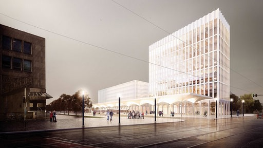 Der Siegerentwurf für das neue Fernbusterminal in Bremen.