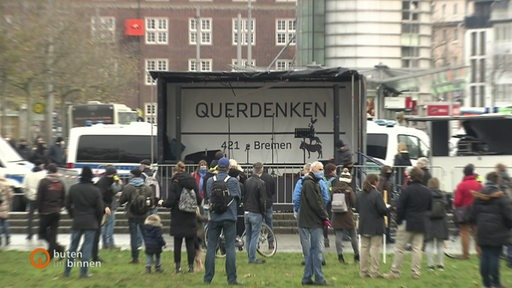 Querdenker Demonstration.