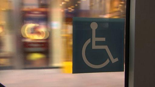 Ein Rollstuhlfahrerzeichen