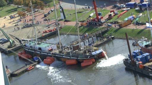 Seute Deern in Bremerhaven