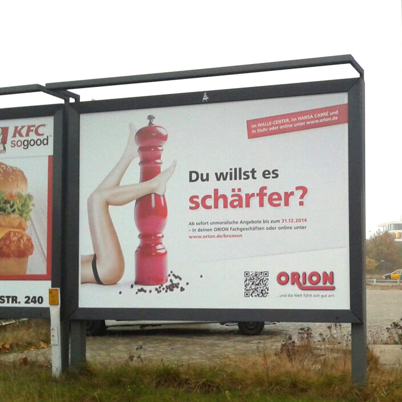 ein sexistisches plakat mit werbung fur eine pfeffermuhle quelle zgf privat