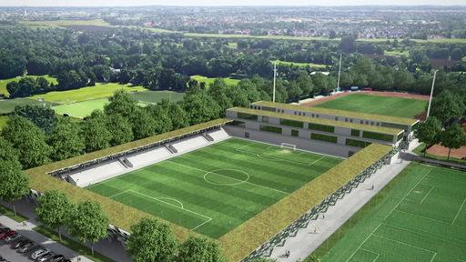 Eine Grafik des neuen Werder Leistungszentrums.